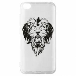 Чехол для Xiaomi Redmi Go Muzzle of a lion