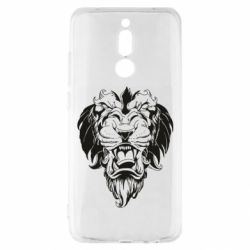 Чехол для Xiaomi Redmi 8 Muzzle of a lion