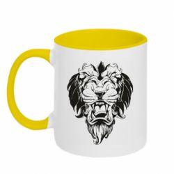 Кружка двухцветная 320ml Muzzle of a lion