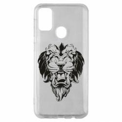 Чехол для Samsung M30s Muzzle of a lion