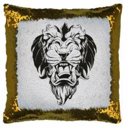 Подушка-хамелеон Muzzle of a lion