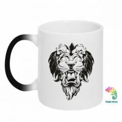 Кружка-хамелеон Muzzle of a lion