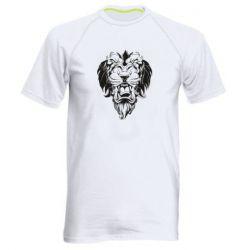 Мужская спортивная футболка Muzzle of a lion
