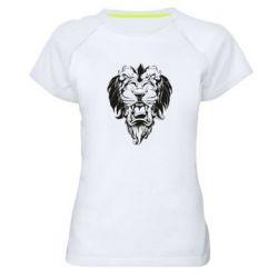 Женская спортивная футболка Muzzle of a lion