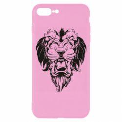 Чехол для iPhone 7 Plus Muzzle of a lion