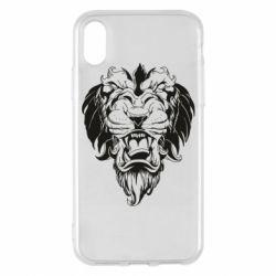 Чехол для iPhone X/Xs Muzzle of a lion