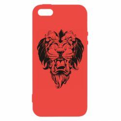 Чехол для iPhone5/5S/SE Muzzle of a lion
