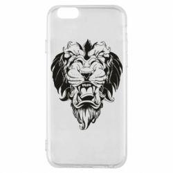 Чехол для iPhone 6/6S Muzzle of a lion