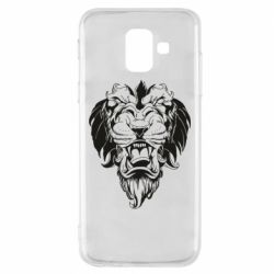 Чехол для Samsung A6 2018 Muzzle of a lion