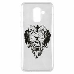 Чехол для Samsung A6+ 2018 Muzzle of a lion