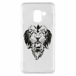 Чехол для Samsung A8 2018 Muzzle of a lion