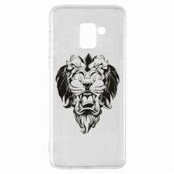 Чехол для Samsung A8+ 2018 Muzzle of a lion