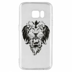 Чехол для Samsung S7 Muzzle of a lion