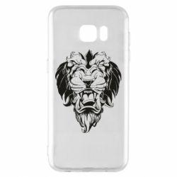 Чехол для Samsung S7 EDGE Muzzle of a lion