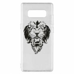 Чехол для Samsung Note 8 Muzzle of a lion