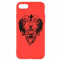 Чехол для iPhone 8 Muzzle of a lion