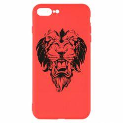 Чехол для iPhone 8 Plus Muzzle of a lion
