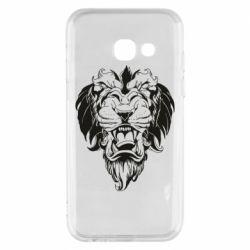 Чехол для Samsung A3 2017 Muzzle of a lion