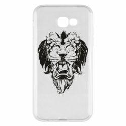 Чехол для Samsung A7 2017 Muzzle of a lion