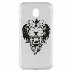 Чехол для Samsung J3 2017 Muzzle of a lion