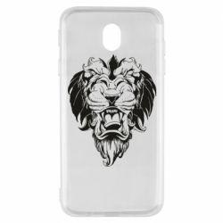 Чехол для Samsung J7 2017 Muzzle of a lion