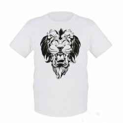 Детская футболка Muzzle of a lion