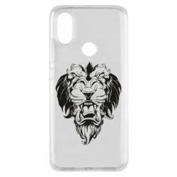 Чехол для Xiaomi Mi A2 Muzzle of a lion