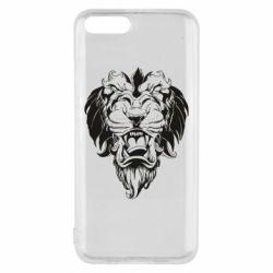 Чехол для Xiaomi Mi6 Muzzle of a lion