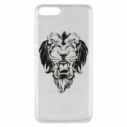 Чехол для Xiaomi Mi Note 3 Muzzle of a lion