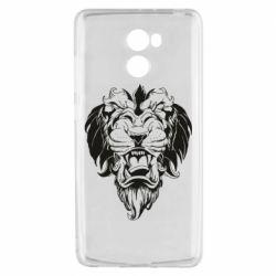 Чехол для Xiaomi Redmi 4 Muzzle of a lion