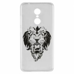 Чехол для Xiaomi Redmi 5 Muzzle of a lion