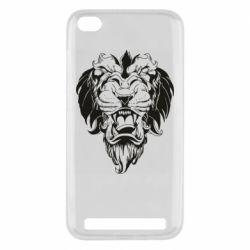 Чехол для Xiaomi Redmi 5A Muzzle of a lion