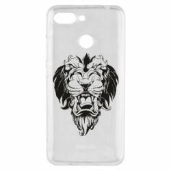 Чехол для Xiaomi Redmi 6 Muzzle of a lion