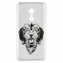 Чехол для Xiaomi Redmi Note 4 Muzzle of a lion
