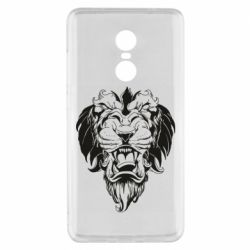 Чехол для Xiaomi Redmi Note 4x Muzzle of a lion