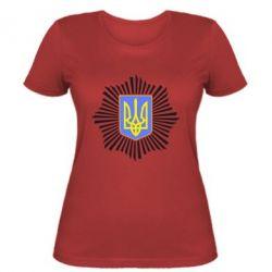 Женская футболка МВС України - FatLine