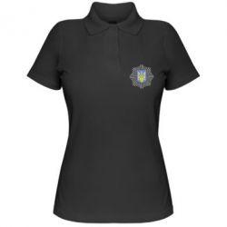 Женская футболка поло МВС України - FatLine