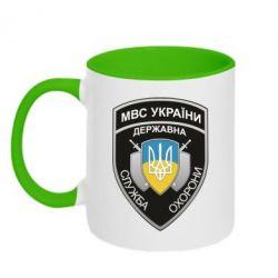 Кружка двоколірна 320ml МВС України