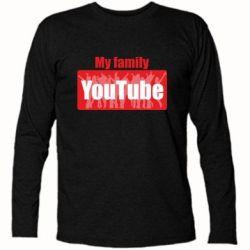 Футболка з довгим рукавом My family youtube