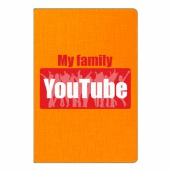 Блокнот А5 My family youtube