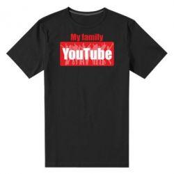 Чоловіча стрейчева футболка My family youtube
