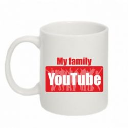 Кружка 320ml My family youtube