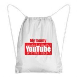 Рюкзак-мішок My family youtube