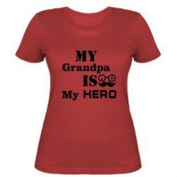 Женская футболка My grandpa