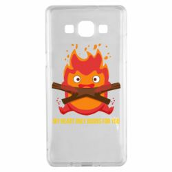 Чохол для Samsung A5 2015 MY HEART ONLY  BURNS FOR YOU