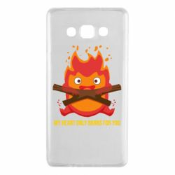 Чохол для Samsung A7 2015 MY HEART ONLY  BURNS FOR YOU