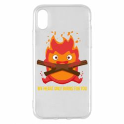 Чохол для iPhone X/Xs MY HEART ONLY  BURNS FOR YOU