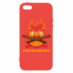 Чохол для iphone 5/5S/SE MY HEART ONLY  BURNS FOR YOU