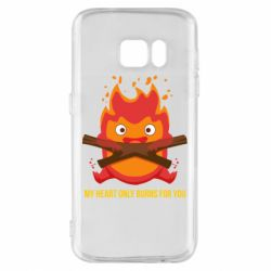 Чохол для Samsung S7 MY HEART ONLY  BURNS FOR YOU