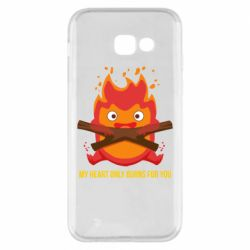 Чохол для Samsung A5 2017 MY HEART ONLY  BURNS FOR YOU